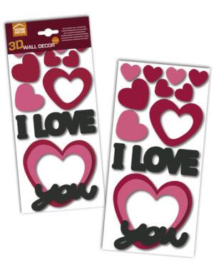 Sticker 3D I love you Home Decor Line