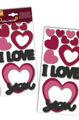 Sticker 3D I love you Home Decor Line