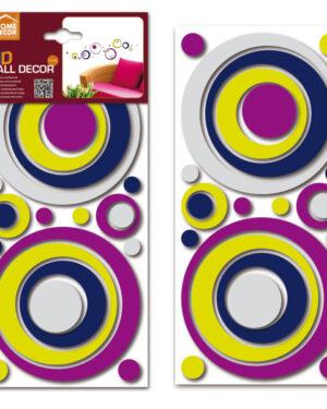 Sticker 3D Colourful circles Home Decor Line