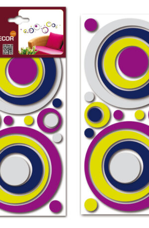Sticker 3D Colourful circles Home Decor Line