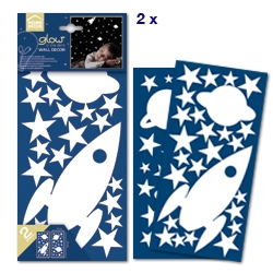 Sticker fosforescente Rocket e Stars Home Decor Line