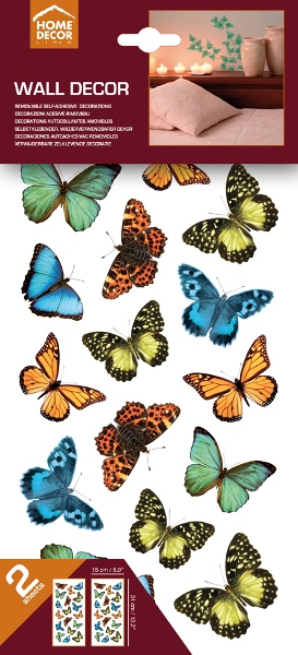Wall sticker colourful butterflies Home Decor Line