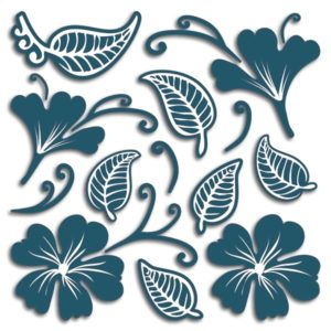 Adesivo murale 3D Flowers and Leaves Home Decor Line