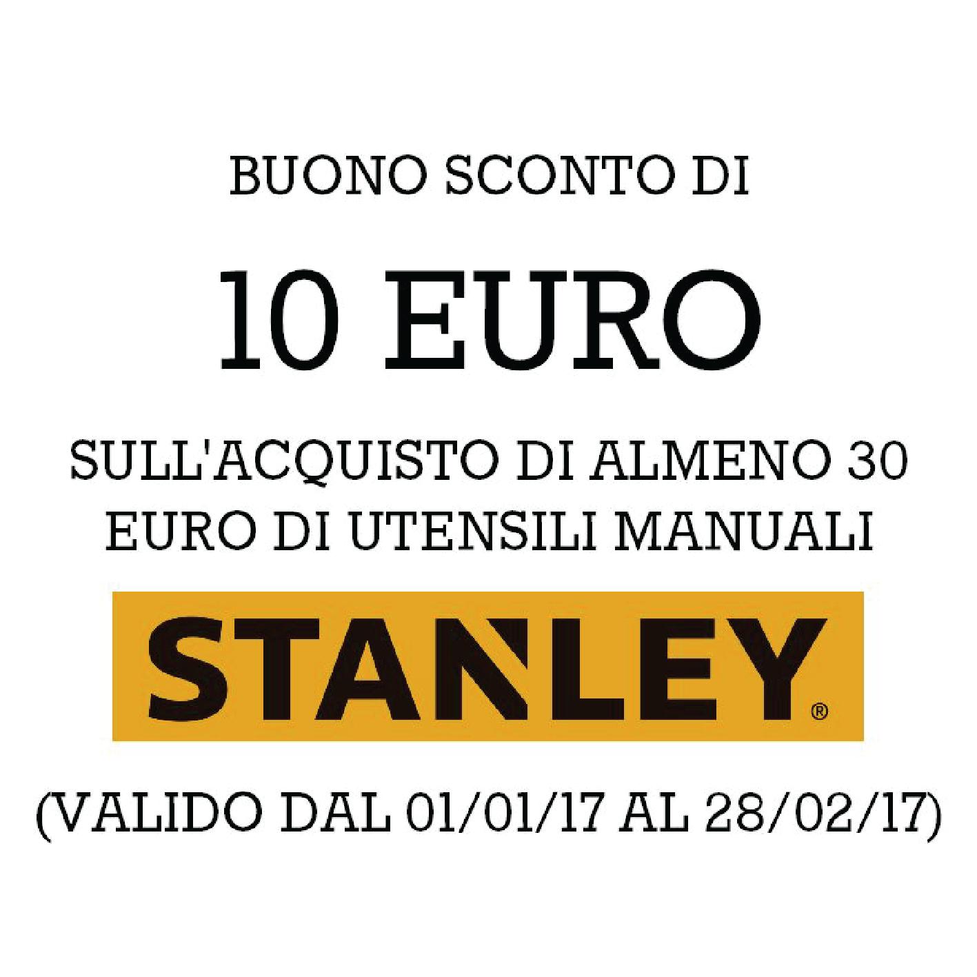 Buono sconto Stanley