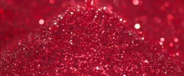 glitter rosso