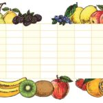 LAVAGNA ADESIVA FRUITS B