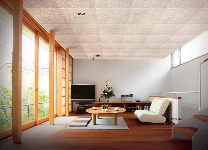 Pannello per soffitto bovelacci tilestyl pdz rio 50x50 cm for Carta da parati per soffitto
