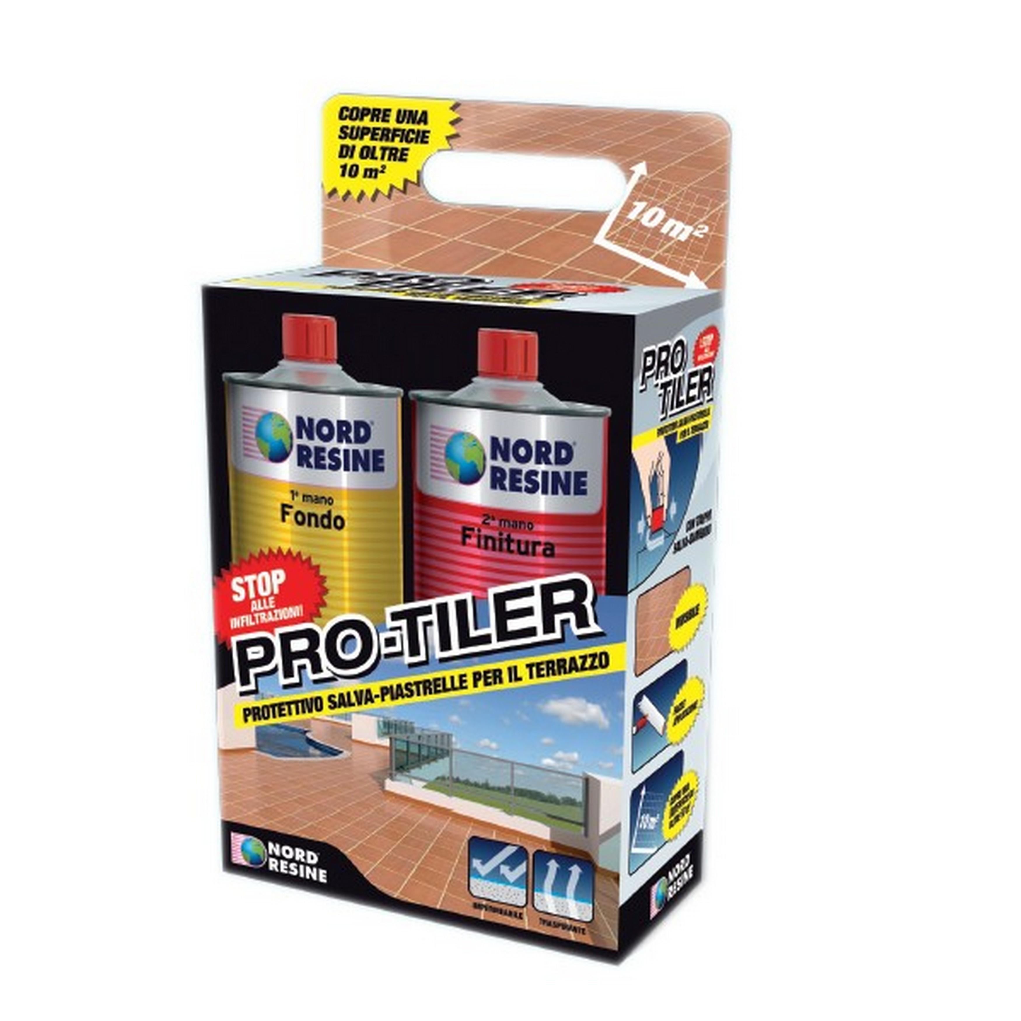 Protettivo salva-piastrelle per terrazzo Pro-Tiler, kit da 1+1 L ...