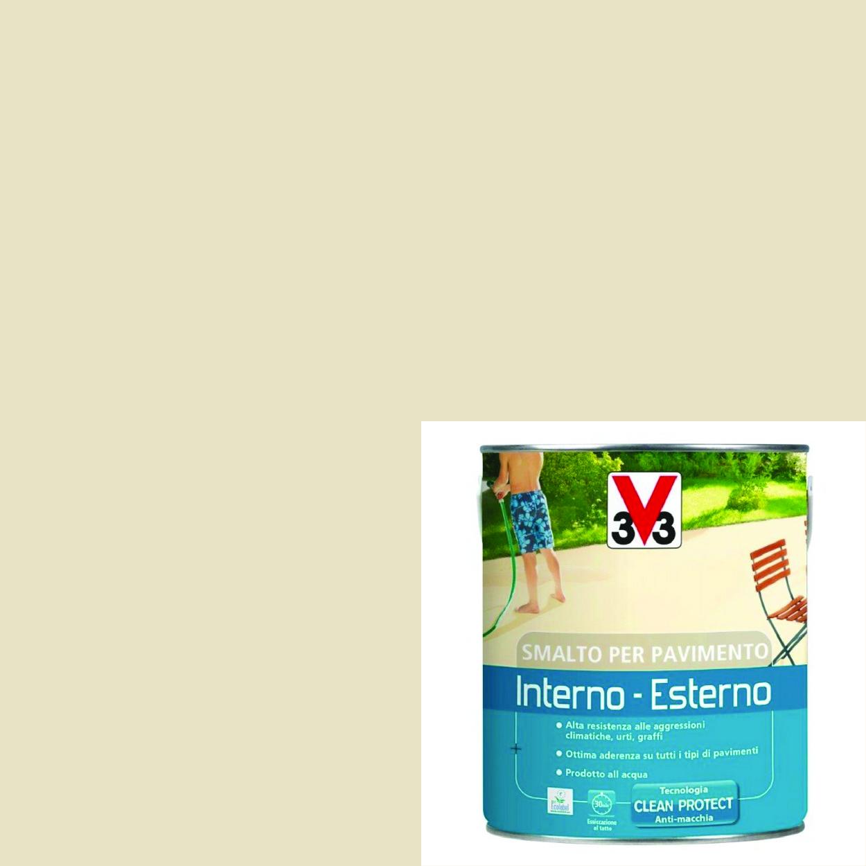 """Pittura Resistente Ai Graffi smalto per pavimenti interno-esterno """"sabbia"""" da 0,5 l"""